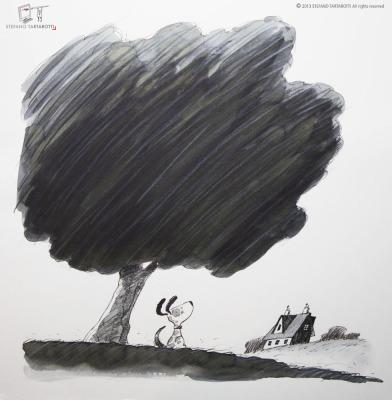 cane e albero