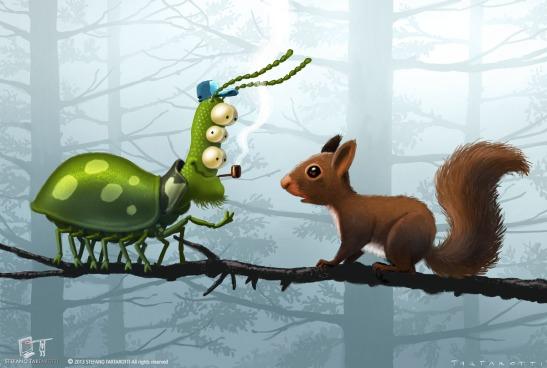 squirrel&bug